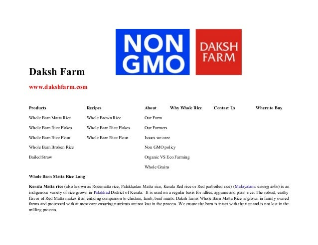 Matta Rice from Daksh farm buy online at www.dakshfarm.com our products are whole grains