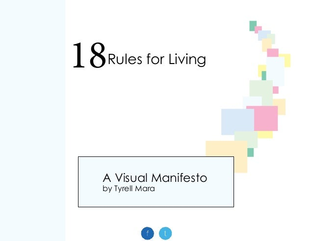 18Rules for Living A Visual Manifesto by Tyrell Mara