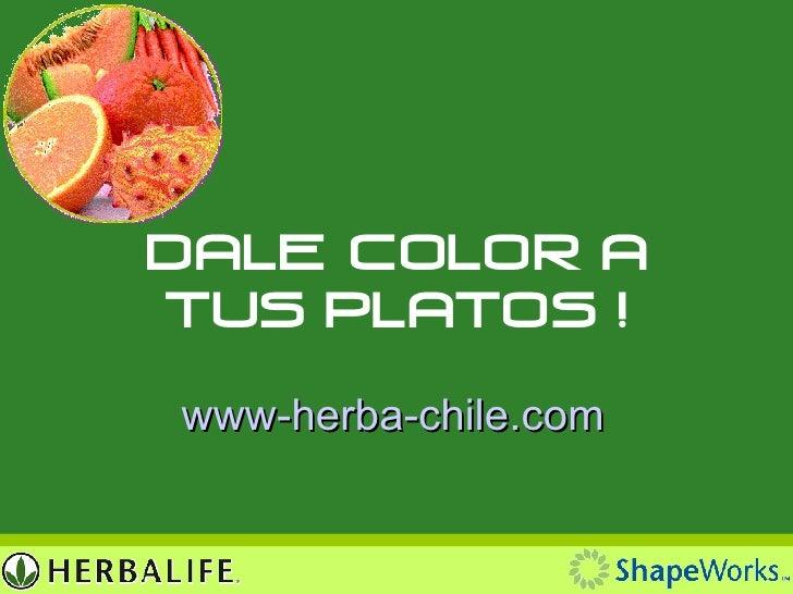 Dale Color a Tus Platos ! www- herba-chile.com