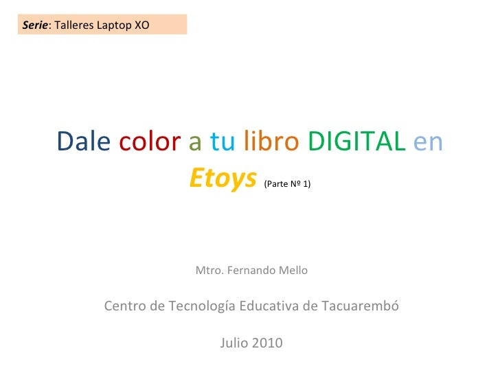 Dale color a tu libro digital en etoys