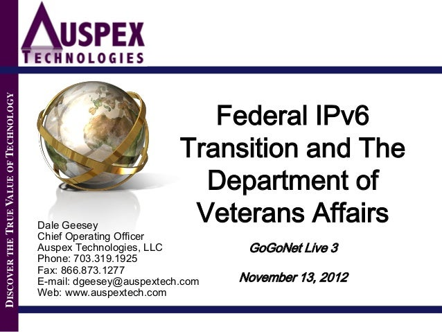 DISCOVER THE TRUE VALUE OF TECHNOLOGY                                                                     Federal IPv6    ...