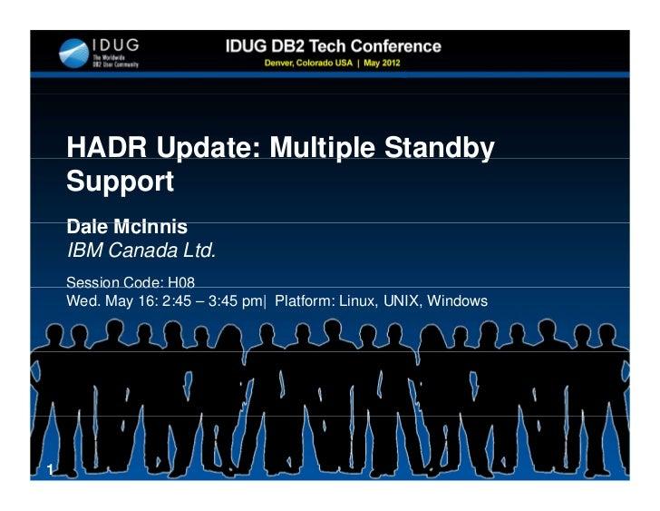 DB2 V 10 HADR Multiple Standby