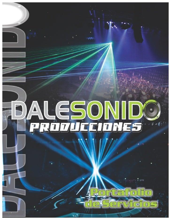 PORTAFOLIO DALE SONIDO PRODUCCIONES