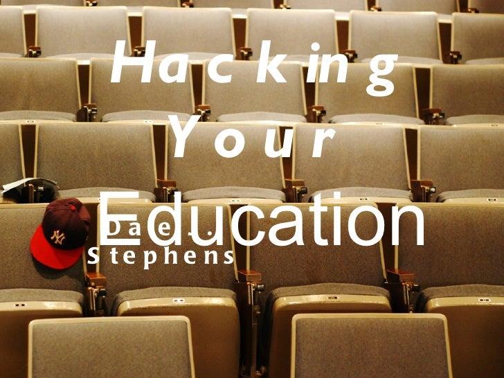 Keynote Presentation - Dale Stephens