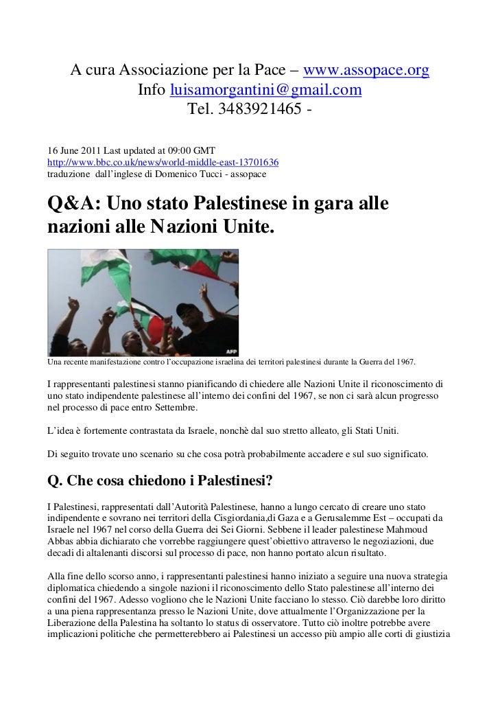 A cura Associazione per la Pace – www.assopace.org               Info luisamorgantini@gmail.com                       Tel....