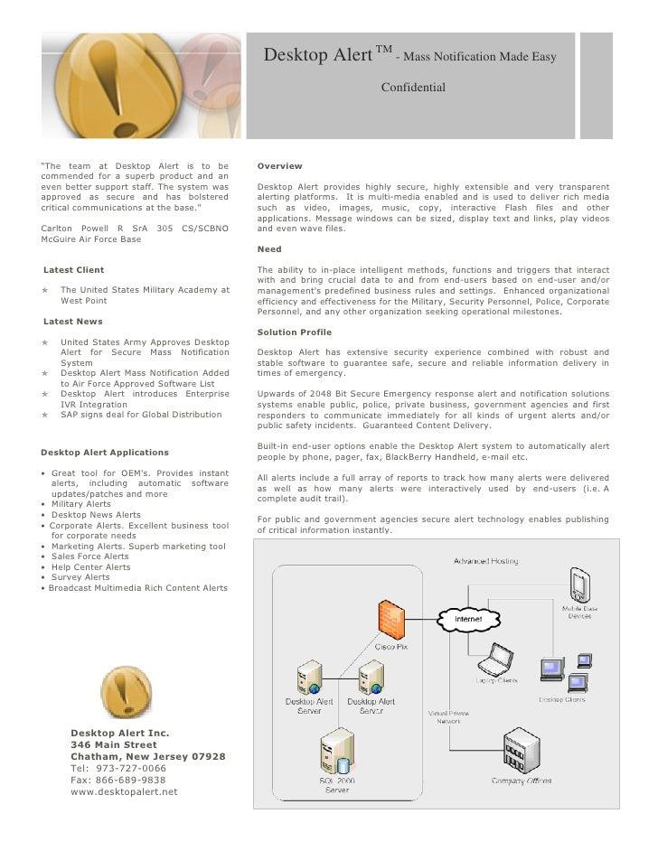 Desktop Alert Lite 4.0 Overview