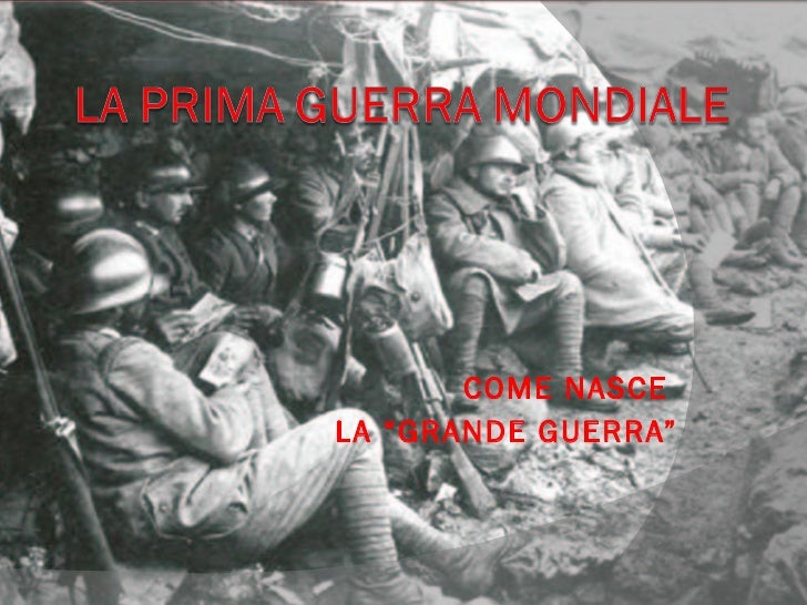 Dalla Prima Guerra Mondiale All' ascesa Di Mussoluni