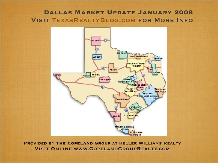 Dallas Market Update January 2008   Visit TexasRealtyBlog.com for More Info     Provided by The Copeland Group at Keller W...