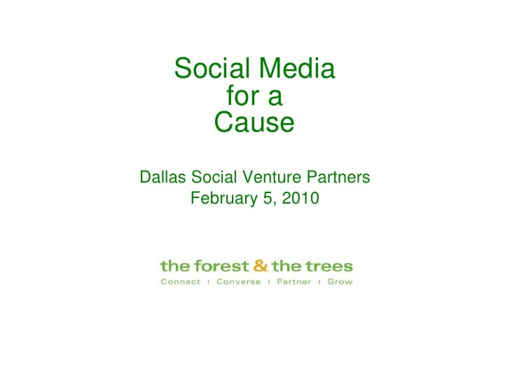 Social Media For A Cause