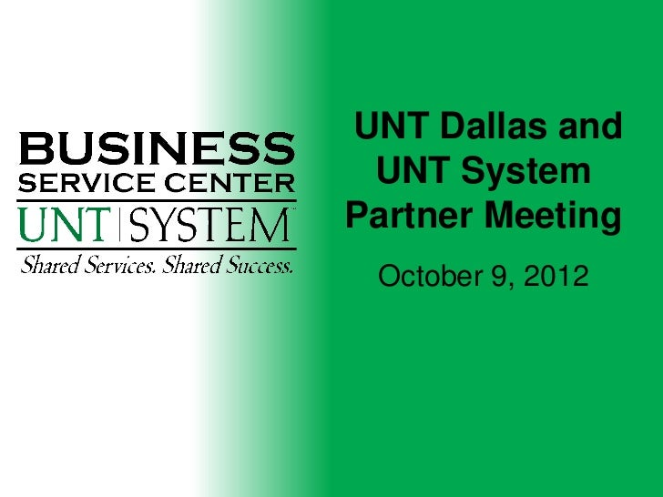 Dallas SYS Partner Meeting 10-09-12