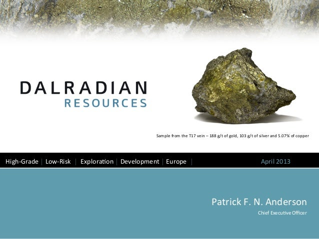 Dalradian corporate presentation april 2013