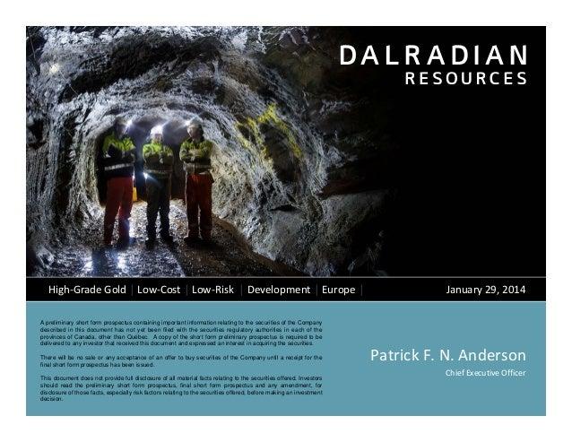 Dalradian Corporate Presentation January 2014