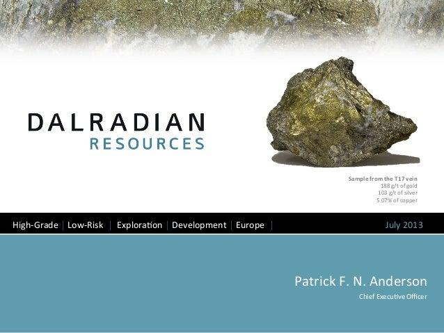 Dalradian corporate presentation july 15 2013
