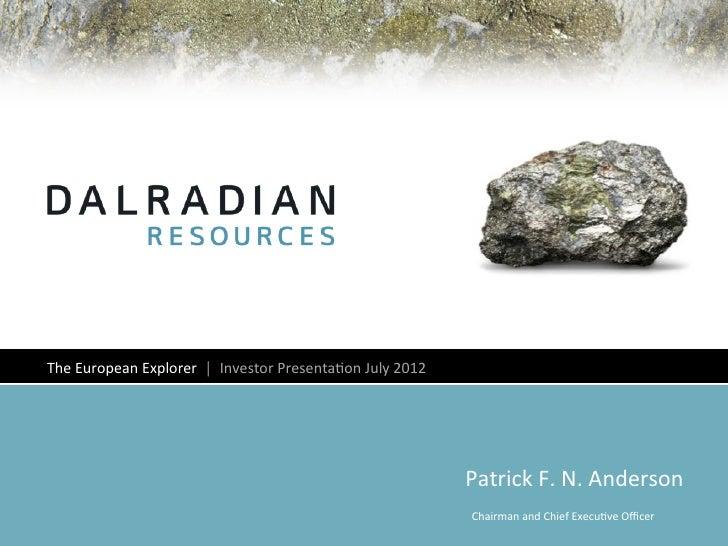 Dalradian corporate presentation july 26 2012 final