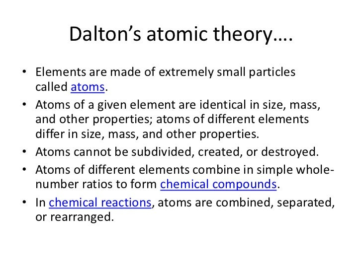 john dalton and atomic theory outline Geiger and marsden's experiment - higher tier you should be able to explain how unexpected results led to the theory of a nuclear atom  geiger and marsden's.