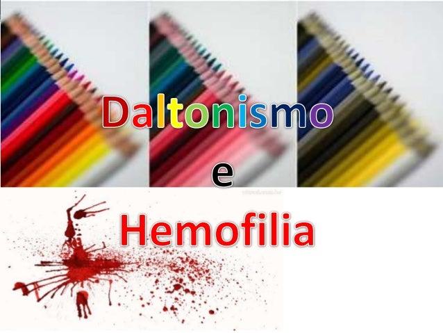 Daltonismo e hemofilia