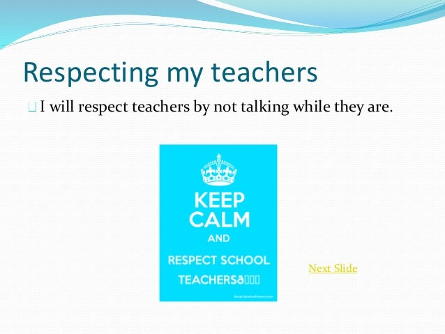 respecting authority figures Many teenagers get into a lot of trouble because of their lack of respect for authority figures at home and in school.