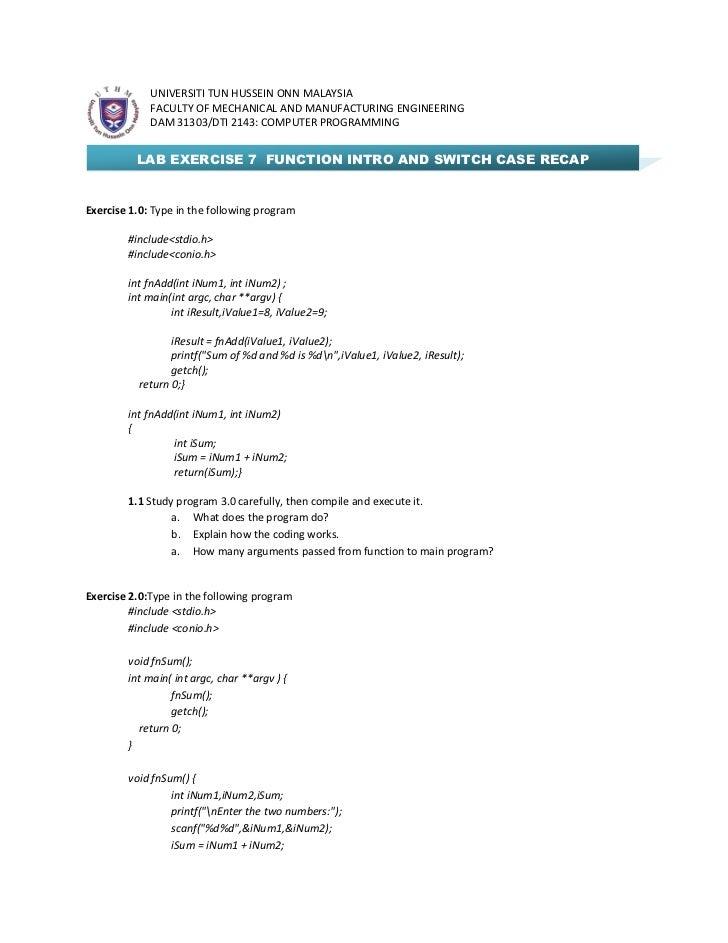 Dam31303 dti2143 lab sheet 7