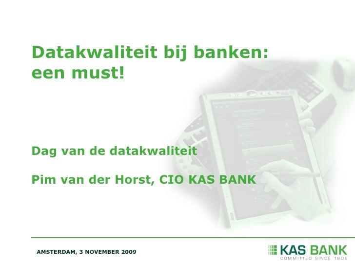 DDMA / Kasbank: Datakwaliteit