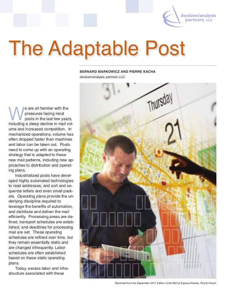 The Adaptable Post                                          BERNARD MARKOWICZ AND PIERRE KACHA                            ...