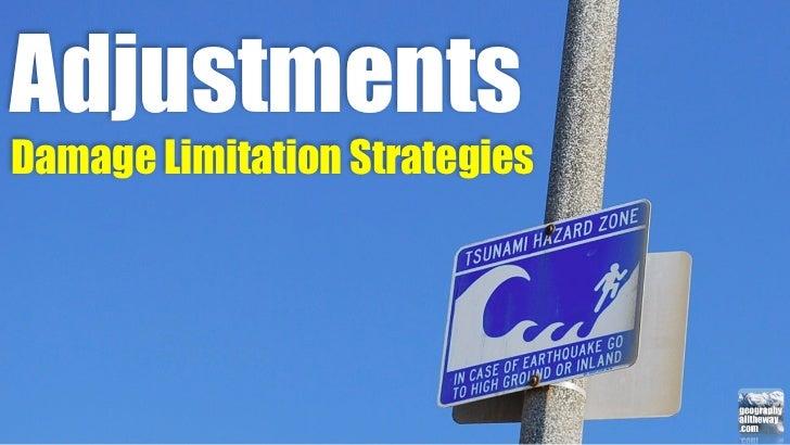IB Geography: Adjustments > Damage Limitation Strategies