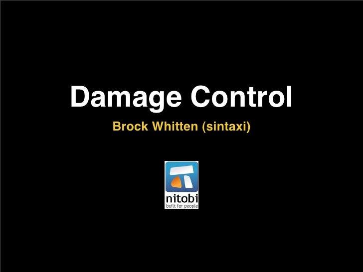 Damage Control   Brock Whitten (sintaxi)