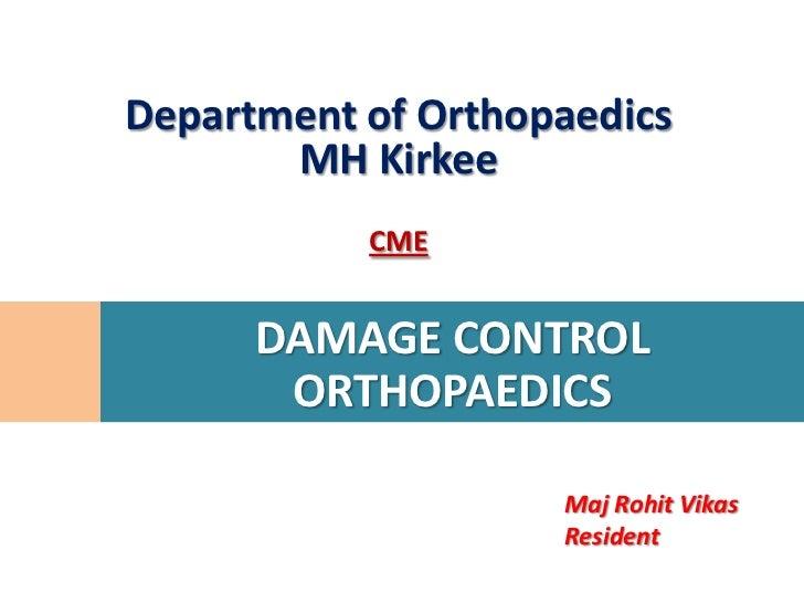 Damage control orthopaedics