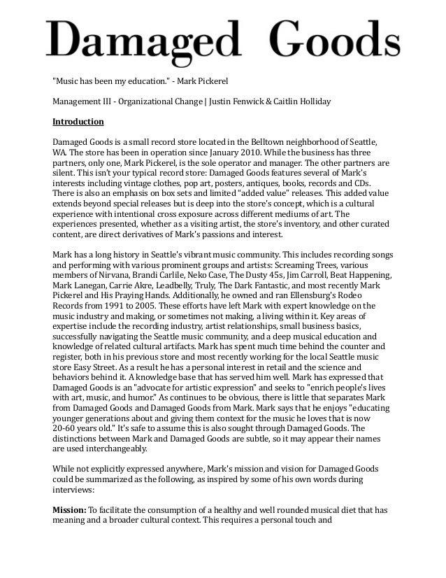 """Music has been my education."" -‐ Mark Pickerel Management III -‐ Organizational Change | Justin Fenwick ..."