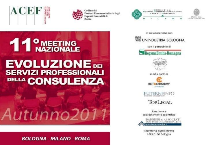 Pianificazione Strategica dello Studio - Damiani Roma 2011 11 09