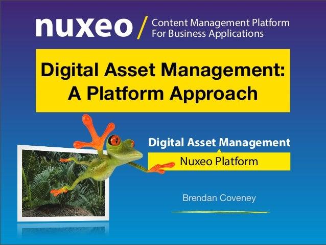 Digital Asset Management: A Platform Approach