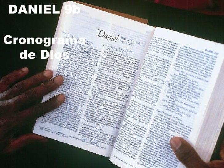 DANIEL 9b Cronograma de Dios