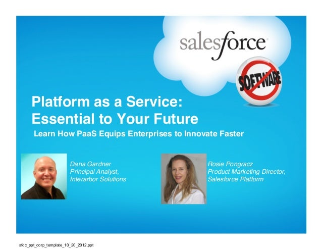 """Platform as a Service:      Essential to Your Future""""       Learn How PaaS Equips Enterprises to Innovate Faster""""        ..."""