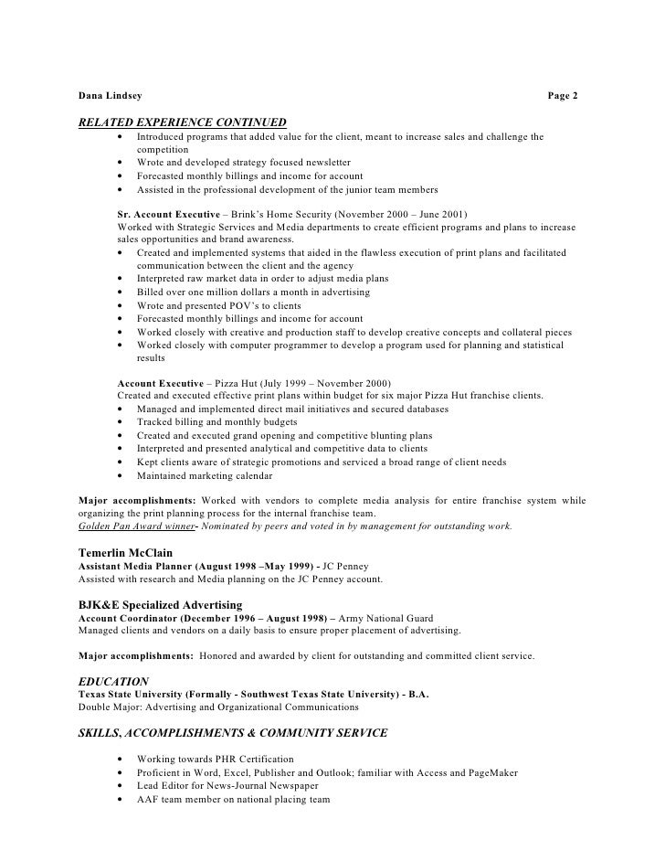 resume hr 2010