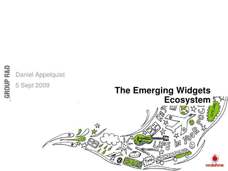 Emerging Widgets Ecosystem - for Vodacom Widget Developer Camp