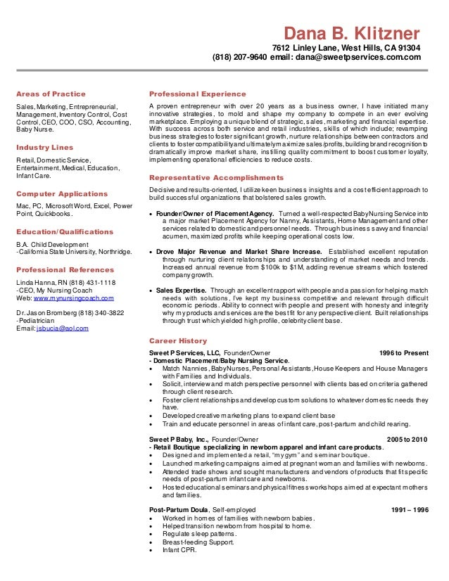 Proven experience resume