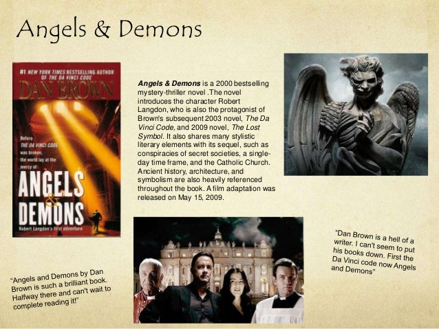 a literary analysis of angels and demons and the da vinci code Is inferno's reviews better than or as good as da vinci code and angels & demons following the successful movie adaptations of dan brown's angels & demons and the da vinci code and literature.