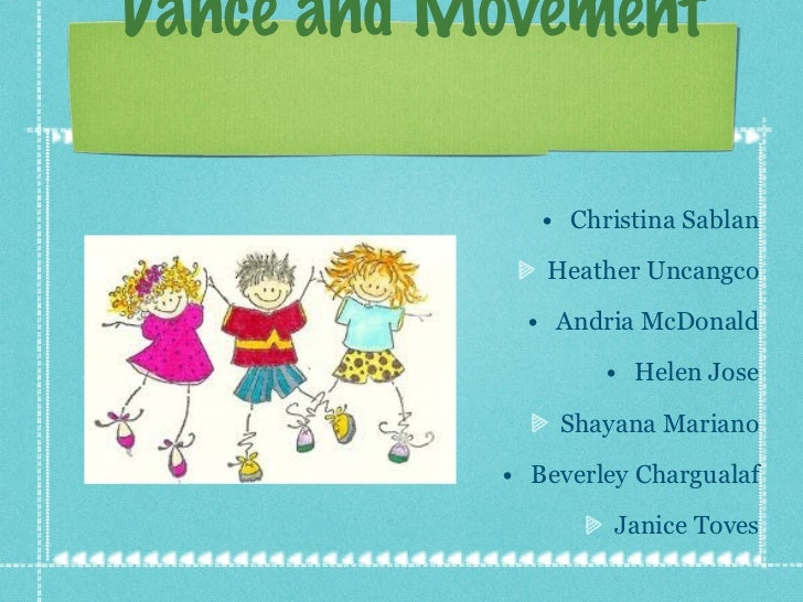 Dance and movement presentation