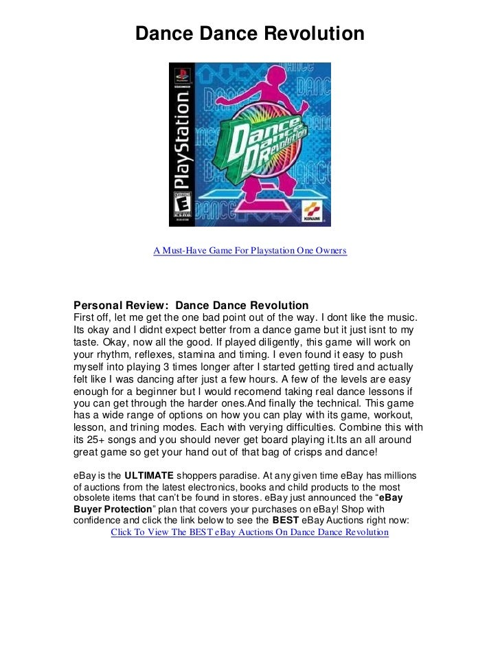 Dance Dance Revolution                      A Must-Have Game For Playstation One Owners     Personal Review: Dance Dance R...