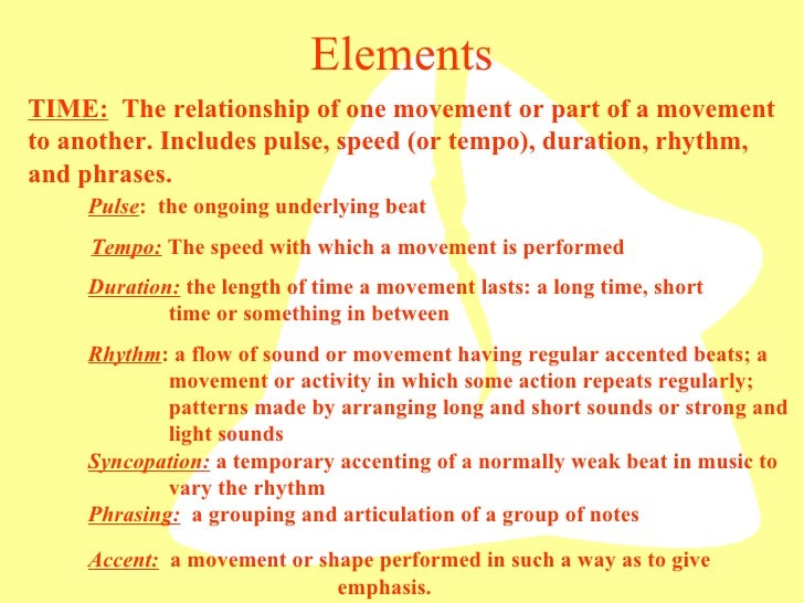 Elements Of Movement : Dance elements power point