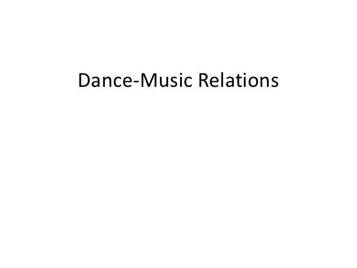Dance-Music Relations<br />