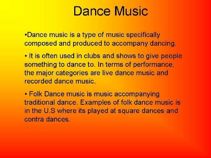 Dance music research ppt