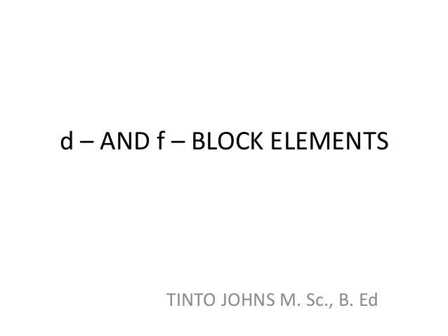 d block elements pdf free