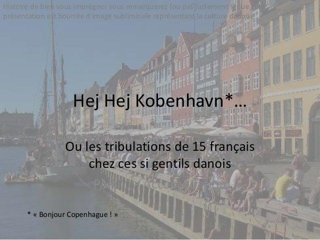 Hej Hej Kobenhavn*… Ou les tribulations de 15 français chez ces si gentils danois PART 1 : Accomodation * « Bonjour Copenh...