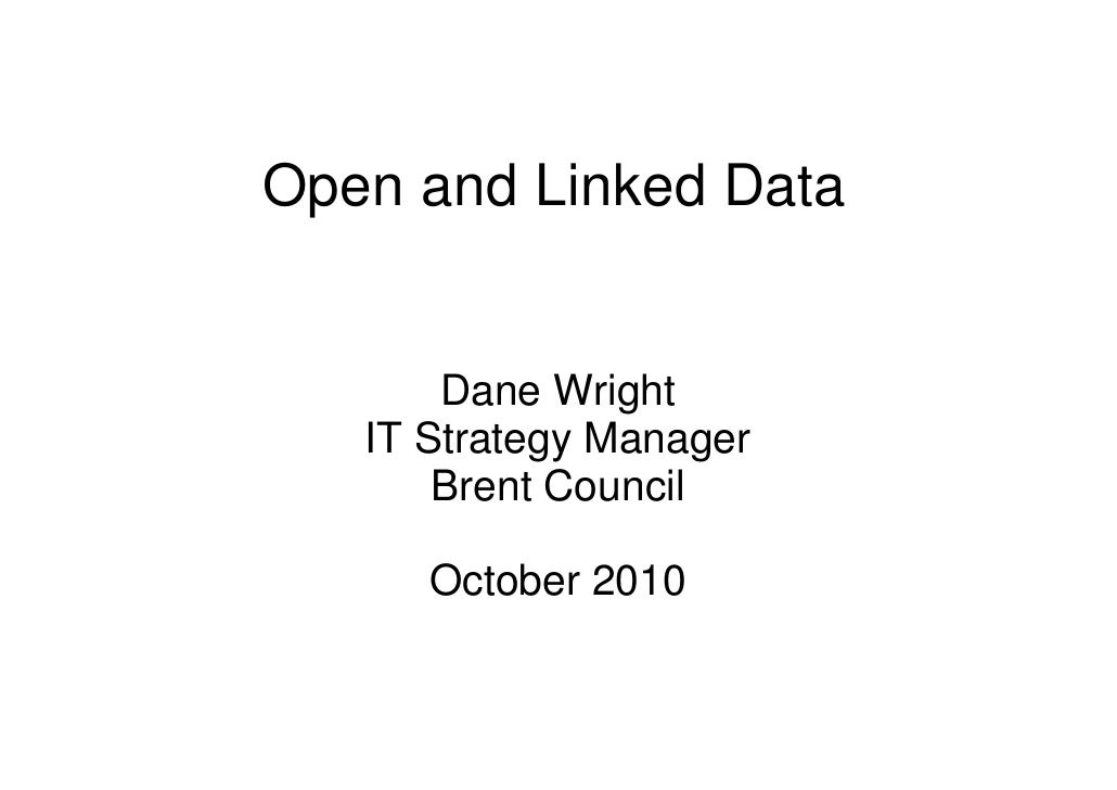 Dane Wright, London Borough of Brent - open and linked data