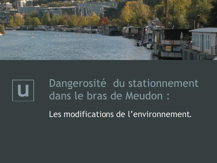 Dangerosité  du stationnement dans le bras de Meudon :   Les modifications de l'environnement.