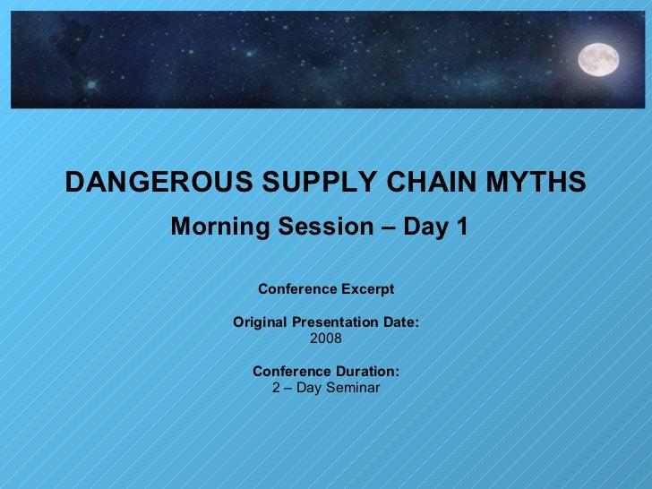 Dangerous Myths Series (Excerpt)