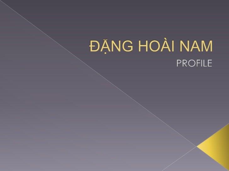 Dang Hoai Nam