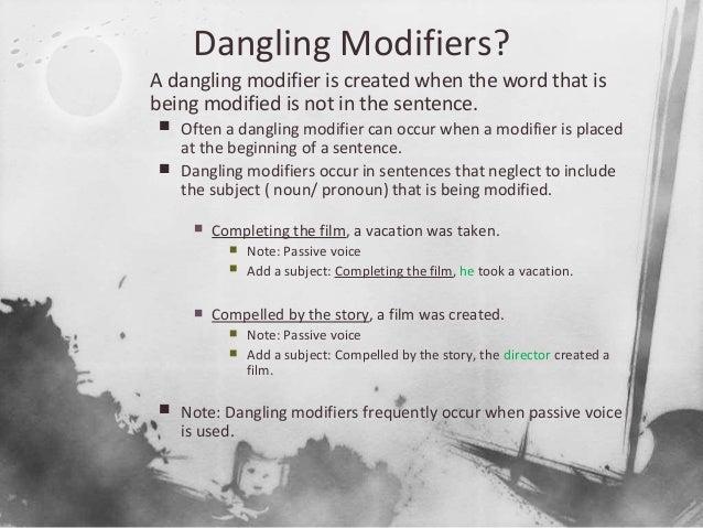 Dangling Modifier Worksheet 010 - Dangling Modifier Worksheet