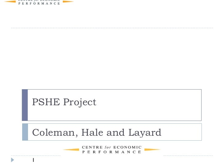 LSE's PSHE Project