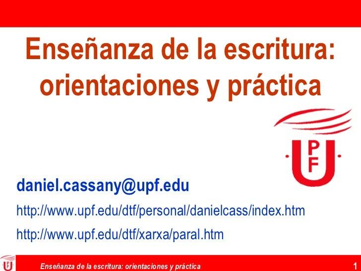 [email_address] http :// www . upf . edu / dtf /personal/ danielcass / index . htm http :// www . upf . edu / dtf / xarxa ...